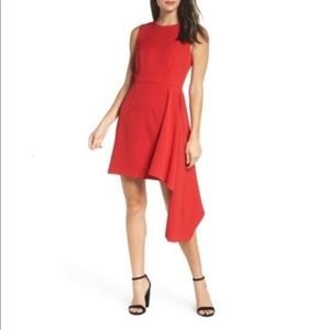 NWT RED Chelsea28 Asymmetrical A-Line Dress 16W